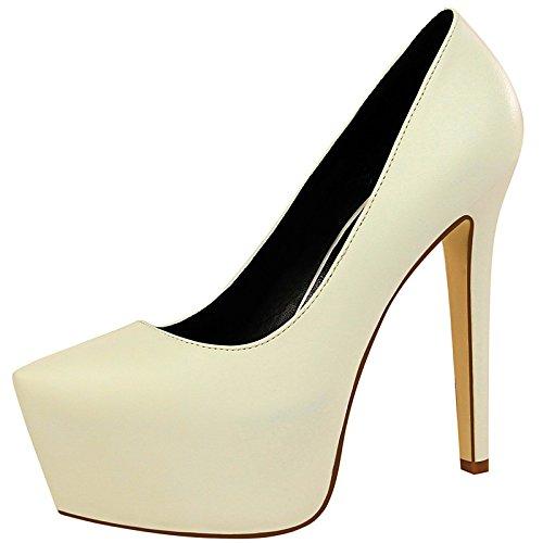Dimaol Mujer Zapatos Primavera Sintético Fall Gladiador Bomba Base Tacones Tacón De Aguja Para Fiesta Y Vestido De Noche Almendra Vino Blanco Negro Blanco
