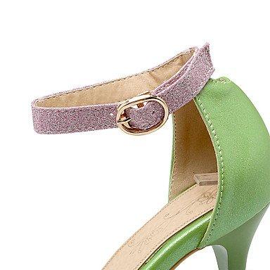 LvYuan Da donna-Sandali-Formale Casual Serata e festa-Altro-A stiletto-PU (Poliuretano)-Verde Rosa Bianco White