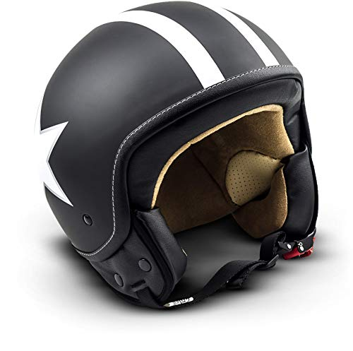 SOXON SP-301 Urban Mofa Casco, Nero Star, L (59-60cm)