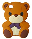 SKS Distribution brun Silicone mignon Ours Bow Bear Etui Coque Housse Pour Apple Iphone 4 and 4S