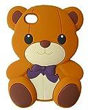 SKS Distribution brun Silicone mignon Ours Bow Bear Etui Coque Housse Pour Apple...