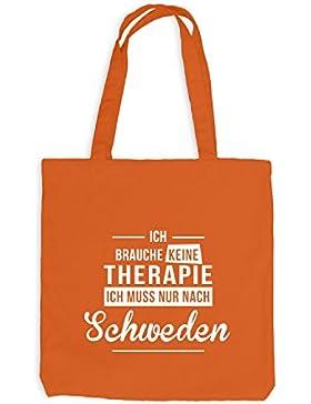 Jutebeutel - Ich Brauche Keine Therapie Schweden - Therapy Urlaub Sweden