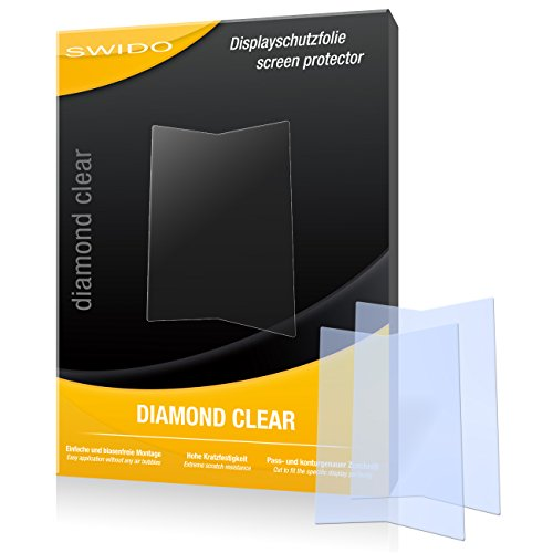 SWIDO 2 x Bildschirmschutzfolie Kazam Life R5 Schutzfolie Folie DiamondClear unsichtbar