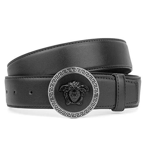 Cinturón De Cuero Marca De Hombre con Cabeza De Serpiente Cinturón De Cuero Nuevo Cinturón con Medusa, MJ, 105 Cm