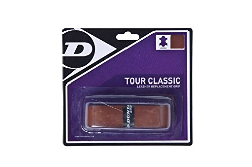 DUNLOP Tour Classic Grips Tennis, echtes Leder, Braun