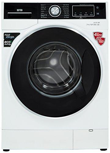IFB 7.5 kg Fully-Automatic Front Loading Washing Machine (Elite WX, White)