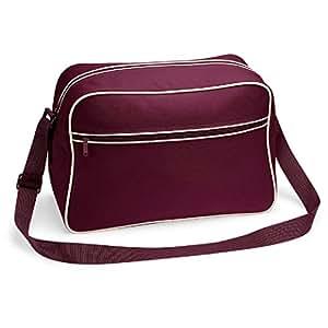 Bagbase retro Shoulder Bag in Burgundy and Sand