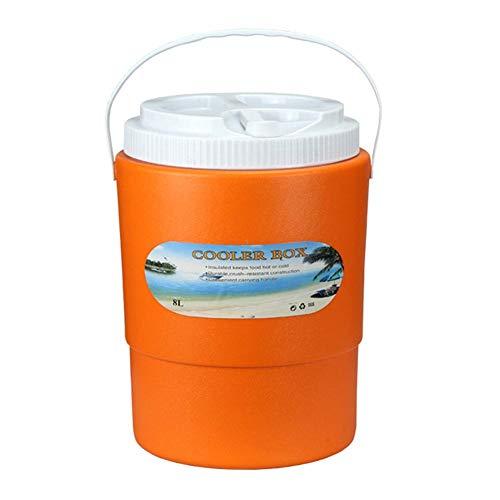 TODAYTOP Heute 8 L Elektroauto Kühler Outdoor Mini Kühlschrank Tragbare Wärmer Kühler Eimer Frische Box für Outdoor Auto Picknick Camping , Blau/Orange