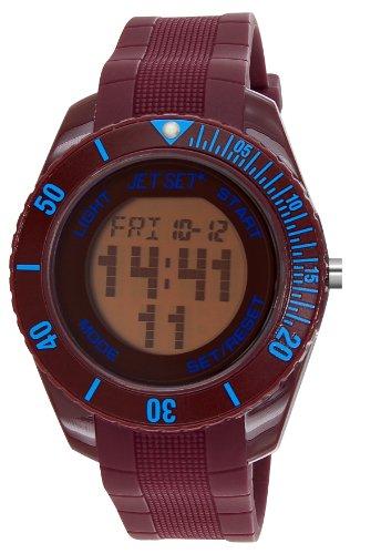 Jet Set–J93491-13Bubble Rubber Strap Unisex Watch–Digital Quartz–Brown Dial–Brown