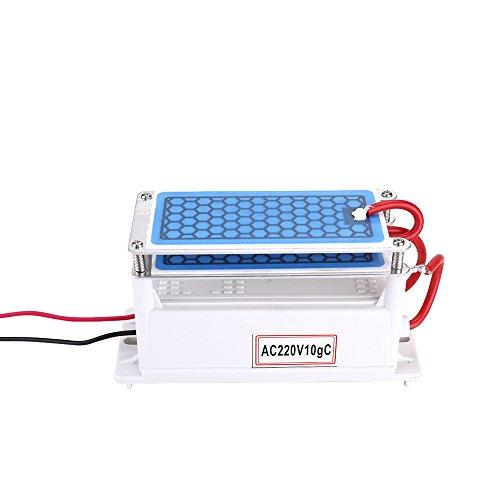 KKmoon - 10g/h Generador Cerámica Portátil Ozono/Purificador