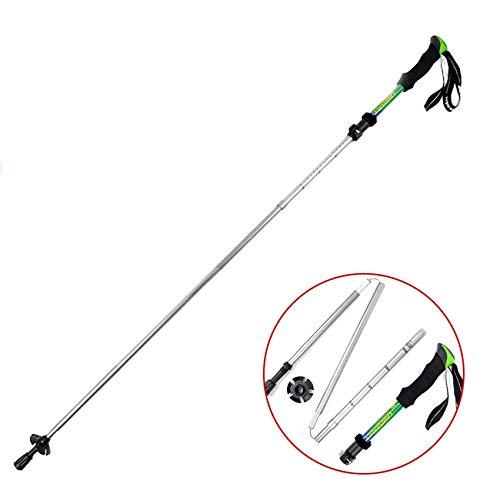 LUDETT Wanderstöcke Walking Sticks Durable Adjustable Anti Shock Hike Trekking Walking Cane Stick Stick Crutch 5-Sektion Adjustable Telescopic Pole Wandersteine