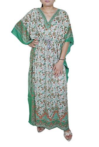 Da donna splendida figura intera stampato caftano stile tradizionale formato libero