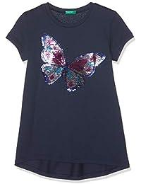 United Colors of Benetton T-Shirt, Camiseta de Tirantes para Niñas, Azul (BLU Scuro 13c), única (Talla del Fabricante: Medium)
