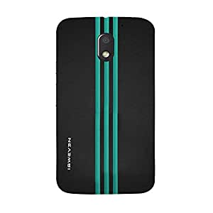 iSweven Three_Green_Line design printed matte finish multi-colored back case cover for MOTOROLA MOTO E3