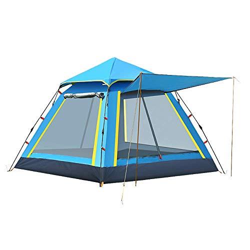 OLLY Outdoor Vollautomatisches Schnellöffnungszelt, 3-4 Personen Pop Up Single Layer Zelt für Camping, Wandern (Farbe : Blau)