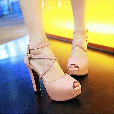 LvYuan Sandali-Formale Casual Serata e festa-Comoda Innovativo-Quadrato-Materiali personalizzati Finta pelle-Nero Rosa Bianco Beige Black