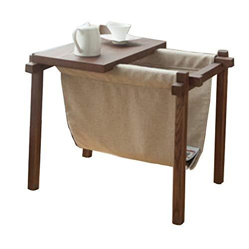 Folding table NAN Massivholz Tisch Tisch Nachttisch Kaffee Snack Lampe Tisch Laptop Schreibtisch (Farbe: Nussbaum Farbe, Eukalyptus, Größe: 70 * 53...
