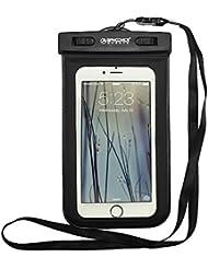 GIANCOMICS® Bolsa Funda Impermeable Móvil Universal para Movil de En playa/ Nadar/ Piscina/Montañismo/Pescar/Remar un barco/Rafting Tarjetas Dinero A prueba de Agua Armband Deportivo Compatible para iPhone 5/5C/5S/5SE/6/6S/6 Plus Samsung Galaxy S5/S6/S7/Nokia Lumia 920/ 820 /Sony Z1 Z2 y Otros Móviles Waterproof