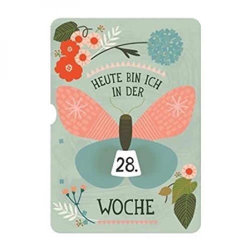 Milestone Turn Wheel Photo Card für die Schwangerschaft mit praktischem verstellbarem Rädchen zur Wochenbestimmung – deutsche Version