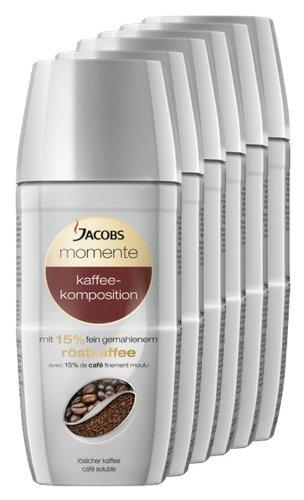 Jacobs Millicano Kaffeekomposition, löslicher Kaffee, Instantkaffee, 6er Pack, 6 x 100g