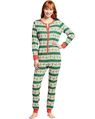 Pijamas de Navidad Familia Adultos Pijama de Una Pieza Familiares Manga Larga Hombre Mujer Pijamas Enteros para Niños Niña Chica Trajes Navideños para Mujeres Ropa de Noche Homewear por Mamá M