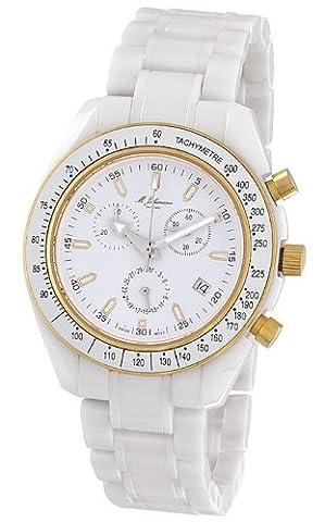 M. Johansson NaxosWG Men's Quartz Ceramic Chronograph ISA SWISS Cal.8171 Wrist Watch