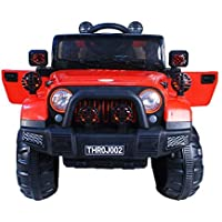 Toy House Off Roader Jeep Rechargeable Battery Operated-Ride-on for Kids, Red