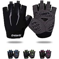 Grebarley Cycling Gloves for Men Women Bike Gloves MTB Gloves Mountain Bike Gloves Anti-slip Shock-absorbing Breathable…
