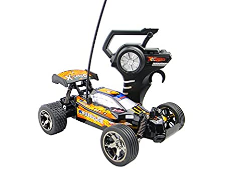 RC Remote Control Racing Car Buggy Truggy with Speed Grip Tyres, Fastest 15kmh Turbo Speed Radio Controlled Toy Cars for Boys Girls for Indoor Outdoor Play, Perfect Gift 27Mhz (Colour May Vary)