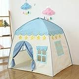 LWKBE Kids Play Tent Castle Großes Tipi-Zelt für Kinder Tragbares Spielhaus Kinderhaus Fort Indoor...