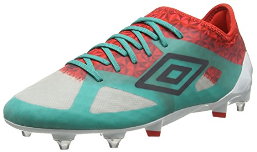 Umbro Herren Velocita Iii Pro Sg Fußballschuhe Multicolor (Dawn Blue/Carbon/Fiery Red/Spectra Green Epe)