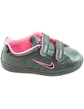 Nike - Nike COURT TRADITION Zapatos Deportivos Niña Negro Rosa - Negro, 26,5