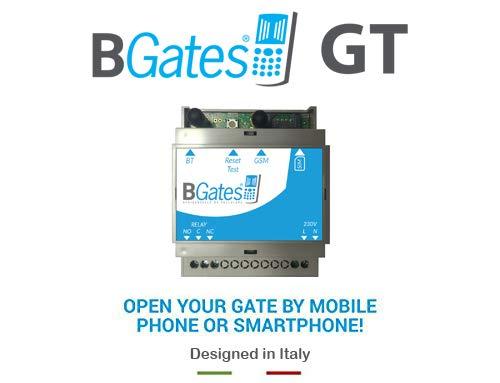 BGates GT - Designed in Italy. Apri il tuo cancello elettrico tramite chiamata telefonica gratuita o APP - Aliment. 220V INCLUSO - 50/60Hz - Con funzione Smart attiva lo installi ed apre!
