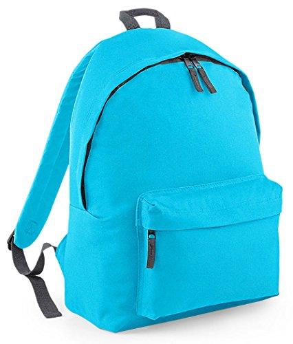 BagBase - Sac à dos Mode - Bleu Azur / Gris Graphite