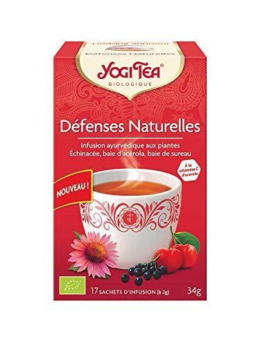 Yogi tea - YOGI TEA - Ayurveda - DEFENSES NATURELLES x17 Rouge