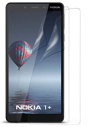 moex 2X Nokia 1 Plus Schutzfolie Klar Display Schutz [Crystal-Clear] Screen Protector Bildschirm Handy-Folie Dünn Displayschutz-Folie für Nokia 1+ Displayfolie Clear Screen Guard Protector