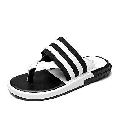 Slippers & amp da uomo;Luce Estate Suole PU Casual Sandali Nero Bianco sandali US6-6.5 / EU38 / UK5-5.5 / CN38