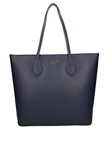 Borsa Mytwin Twin Set modello Shopping Bag a spalla Blu