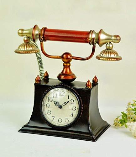 ATR Retro Telefon-Uhr, kreative antike stille Quarz-Uhr, dekoriert für Wohnzimmer Schlafzimmer, Geschenk - Schlafzimmer, Telefon