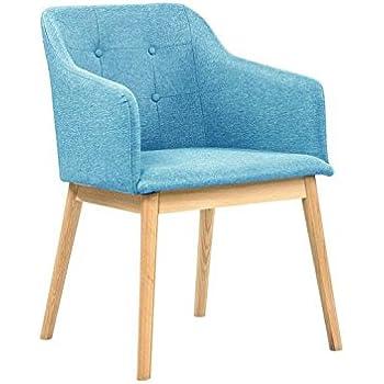 SalesFever® Armlehnstuhl Ando Türkis Blau, Esszimmer Stuhl Petrol Mit  Stoffbezug Modern Gepolstert