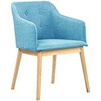 salesfever armlehnstuhl ando turkis blau esszimmer stuhl petrol mit stoffbezug modern gepolstert