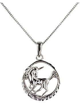 SL-Silver Set aus Kette und Anhänger mystisches Einhorn 925 Silber Geschenkverpackung
