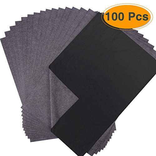 100 Blatt Kohlepapier Schwarz DIN A4 Pauspapier Durchschreibepapier