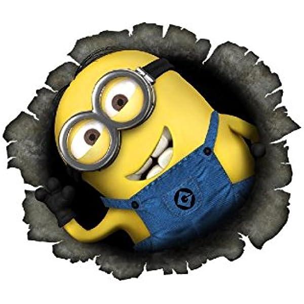 Topthaishop 2 X Minion Breaking Durch Aufkleber Aufkleber Auto Truck Bumper Laptop Love Hug Stick Despicable Me Funny Stuart Bob 5 W X 4 H Sport Freizeit
