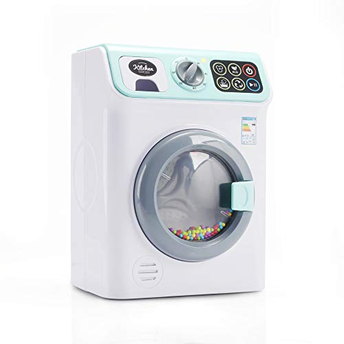infunbebe Jeeves Jr. Waschmaschine Kinder Elektronische Spielzeugwaschmaschine mit realistischen Sounds und Funktionen, Pädagogische Rollenspielzeug Haushaltsspielzeug für Kleinkind