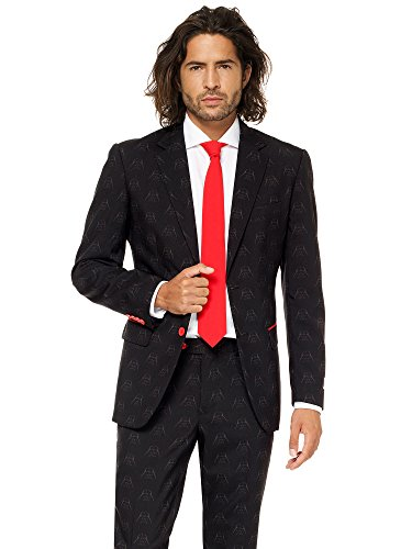 Opposuits STAR WARSTM Suit - Official Darth VaderTM Costume Comes With Pants, Jacket and Tie, Darth VaderTM, 52 (Full Suit Kostüm)