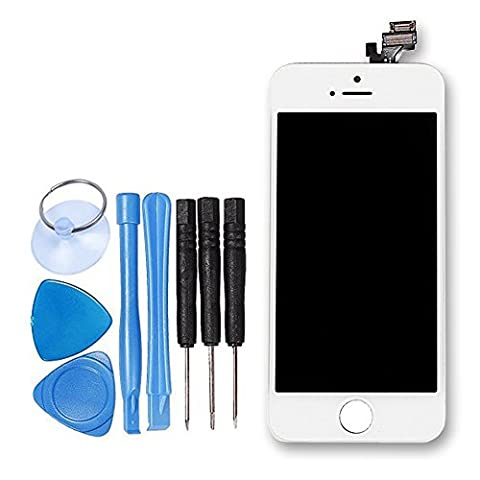 LL TRADER LCD For iPhone 5 A1428 A1429 White Display Assembly Digitizer Touch Screen Replacement with Repair Tool Kits