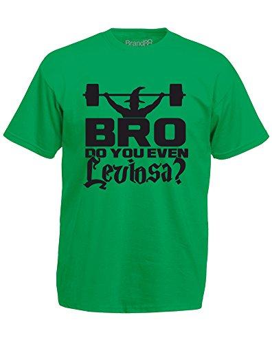 Brand88 - Brand88 - Bro, Do You Even Leviosa?, Mann Gedruckt T-Shirt Grün/Schwarz