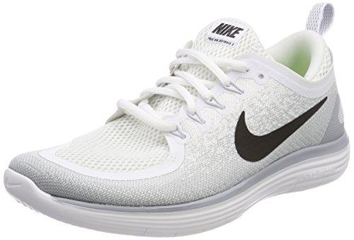 Männer Schuhe Weiß Nike Laufen (Nike Herren Free RN Distance 2 Laufschuhe, Weiß (Blanc/Grisloup/Platinepur/Noir), 42.5 EU)
