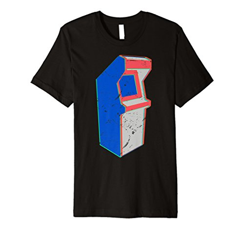 Cute Retro Distressed 80's Arcade Cabinet Shirt Game Gift